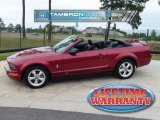 2007 Redfire Metallic Ford Mustang V6 Premium Convertible #29404756