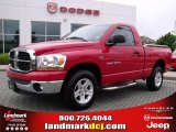 2006 Flame Red Dodge Ram 1500 SLT Regular Cab #29404426