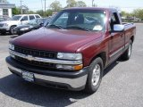 2000 Dark Carmine Red Metallic Chevrolet Silverado 1500 LS Regular Cab #29433904