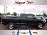 2008 Brilliant Black Crystal Pearl Dodge Ram 1500 Laramie Quad Cab 4x4 #29433933