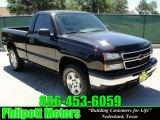 2007 Black Chevrolet Silverado 1500 Classic Work Truck Regular Cab 4x4 #29439037