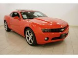 2010 Inferno Orange Metallic Chevrolet Camaro LT/RS Coupe #29439255