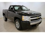 2008 Black Chevrolet Silverado 1500 Work Truck Regular Cab 4x4 #29439259