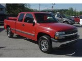 1999 Victory Red Chevrolet Silverado 1500 LS Extended Cab 4x4 #29439269