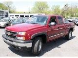 2006 Sport Red Metallic Chevrolet Silverado 1500 Z71 Extended Cab 4x4 #29439344