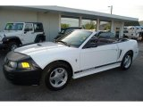 2001 Oxford White Ford Mustang V6 Convertible #29439169