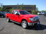2010 Vermillion Red Ford F150 XLT SuperCab 4x4 #29483470