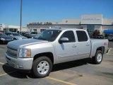 2010 Sheer Silver Metallic Chevrolet Silverado 1500 LT Crew Cab 4x4 #29536605
