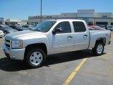 2010 Sheer Silver Metallic Chevrolet Silverado 1500 LT Crew Cab 4x4 #29536608