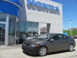 2006 Galaxy Gray Metallic Honda Civic LX Coupe #29536340
