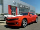 2010 Inferno Orange Metallic Chevrolet Camaro SS Coupe #29536838