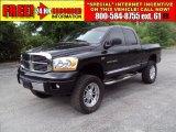 2006 Brilliant Black Crystal Pearl Dodge Ram 1500 Laramie Quad Cab 4x4 #29536850