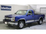 2003 Arrival Blue Metallic Chevrolet Silverado 1500 Z71 Regular Cab 4x4 #29536717