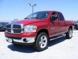 2007 Inferno Red Crystal Pearl Dodge Ram 1500 SLT Quad Cab 4x4 #29600239