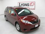 2011 Salsa Red Pearl Toyota Sienna LE #29599481