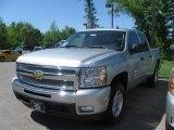 2010 Sheer Silver Metallic Chevrolet Silverado 1500 LT Crew Cab 4x4 #29600245