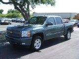 2010 Blue Granite Metallic Chevrolet Silverado 1500 LT Crew Cab 4x4 #29599657