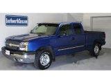 2004 Arrival Blue Metallic Chevrolet Silverado 1500 Z71 Extended Cab 4x4 #29600194