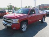 2009 Victory Red Chevrolet Silverado 1500 LT Extended Cab 4x4 #29600316