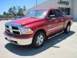 2010 Inferno Red Crystal Pearl Dodge Ram 1500 SLT Quad Cab 4x4 #29600090