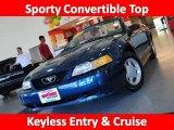 1999 Atlantic Blue Metallic Ford Mustang V6 Convertible #29599744