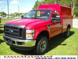 2010 Vermillion Red Ford F350 Super Duty XL Regular Cab 4x4 Chassis Utility #29668756