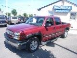 2005 Sport Red Metallic Chevrolet Silverado 1500 Z71 Crew Cab 4x4 #29669202