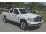 2008 Bright White Dodge Ram 1500 Big Horn Edition Quad Cab 4x4 #29669316