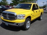 2008 Detonator Yellow Dodge Ram 1500 Big Horn Edition Quad Cab 4x4 #29668653
