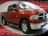 2009 Inferno Red Crystal Pearl Dodge Ram 1500 SLT Quad Cab 4x4 #29668813