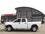 2008 Bright White Dodge Ram 1500 ST Quad Cab 4x4 #29723988