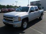 2010 Sheer Silver Metallic Chevrolet Silverado 1500 LT Crew Cab #29724042