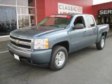 2007 Blue Granite Metallic Chevrolet Silverado 1500 LS Crew Cab #29762549
