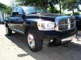 2008 Brilliant Black Crystal Pearl Dodge Ram 1500 Laramie Quad Cab 4x4 #29762071