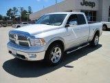 2010 Stone White Dodge Ram 1500 Laramie Quad Cab 4x4 #29762585
