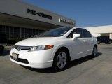 2007 Taffeta White Honda Civic EX Sedan #29762242