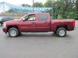 2009 Deep Ruby Red Metallic Chevrolet Silverado 1500 LT Crew Cab #29762791