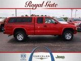 2004 Flame Red Dodge Dakota Sport Club Cab 4x4 #29831626