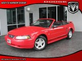 2003 Torch Red Ford Mustang V6 Convertible #29831631