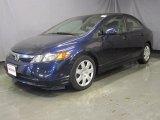 2007 Royal Blue Pearl Honda Civic LX Sedan #29831955