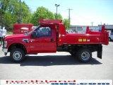 2010 Vermillion Red Ford F350 Super Duty XL Regular Cab 4x4 Chassis Dump Truck #29831638