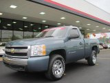 2007 Blue Granite Metallic Chevrolet Silverado 1500 LS Regular Cab 4x4 #29831969