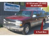 2002 Dark Carmine Red Metallic Chevrolet Silverado 1500 LS Regular Cab 4x4 #29831823
