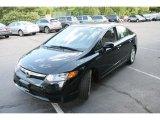 2007 Nighthawk Black Pearl Honda Civic EX Sedan #29831704