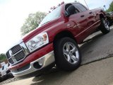 2007 Inferno Red Crystal Pearl Dodge Ram 1500 Big Horn Edition Quad Cab 4x4 #29763263