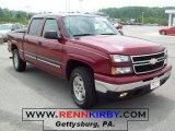 2006 Sport Red Metallic Chevrolet Silverado 1500 Z71 Crew Cab 4x4 #29899977