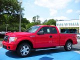 2010 Vermillion Red Ford F150 STX SuperCab #29899546