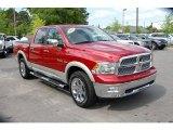2009 Inferno Red Crystal Pearl Dodge Ram 1500 Laramie Crew Cab 4x4 #29899897