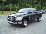 2008 Brilliant Black Crystal Pearl Dodge Ram 1500 Big Horn Edition Quad Cab 4x4 #29900074