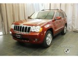 2008 Red Rock Crystal Pearl Jeep Grand Cherokee Limited 4x4 #29899409